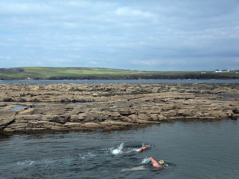 swimmers at pollock holes